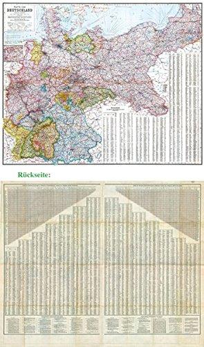 9783867779999: General-Karte Deutsches Reich - Deutschland, 1910: Zwei Großkarten mit Ortsverzeichnis inkl. Einwohnerzahl und Koordinaten (plano)