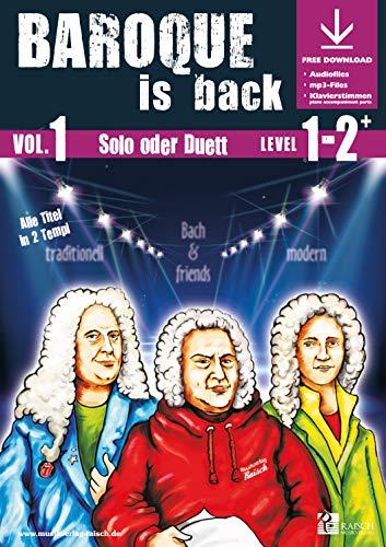 9783867840828: Baroque is back Vol.1 für Tenorhorn Bb (play-along / Notenheft mit Begleit-CD)