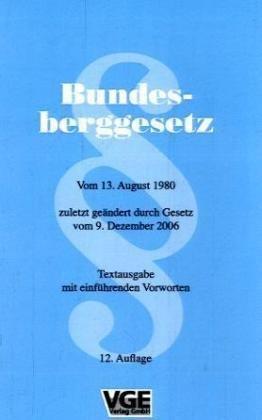 9783867970006: Bundesberggesetz