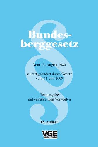 9783867970655: Bundesberggesetz