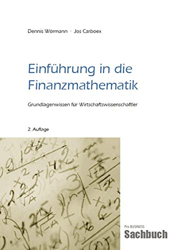 Wörmann, D: Einführung in die Finanzmathematik