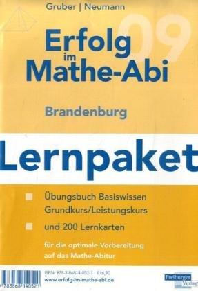 9783868140521: Erfolg im Mathe-Abi Lernpaket Brandenburg: �bungsbuch f�r das Basiswissen in Brandenburg mit Tipps und L�sungen sowie Lernkarten f�r die optimale Vorbereitung auf das Mathe-Abitur