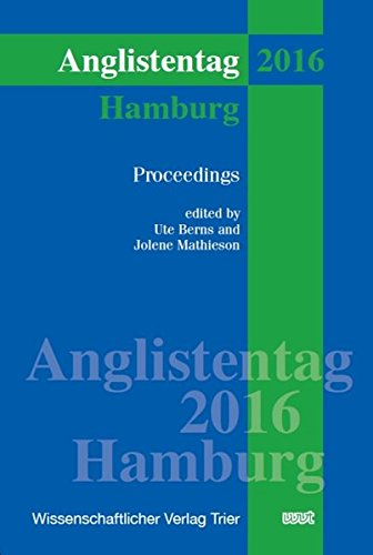 9783868217254: Anglistentag Hamburg (2016): Proceedings (XXXVIII)
