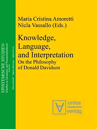 9783868380002: Knowledge, Language, and Interpretation: On the Philosophy of Donald Davidson