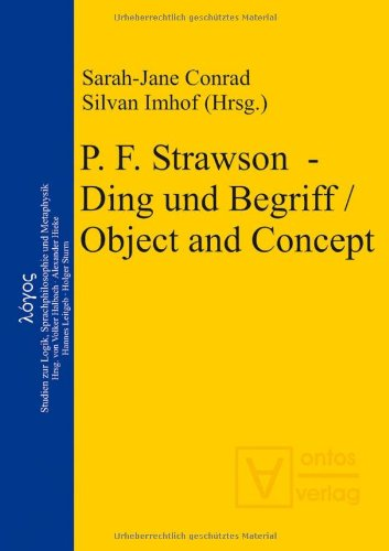9783868380163: P. F. Strawson - Ding und Begriff / Object and Concept