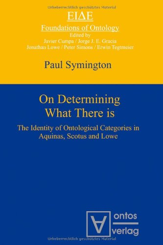 On determining what there is. The identity of ontological categories in Aquinas, Scotus and Lowe. - Symington, Paul