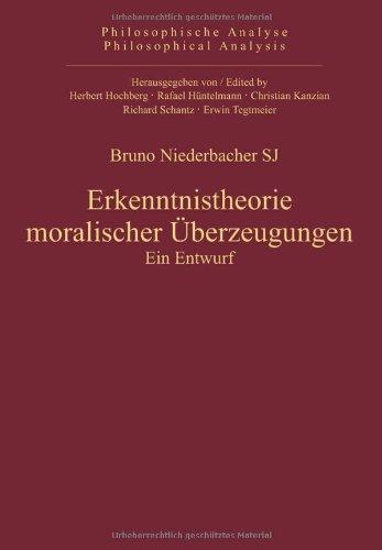 Erkenntnistheorie moralischer Überzeugungen: Bruno Niederbacher