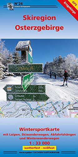 9783868430264: Wintersportkarte Skiregion Osterzgebirge 1:33 000: Wintersportkarte mit Loipen, Skiwanderwegen, Abfahrtshängen und Winterwanderwegen