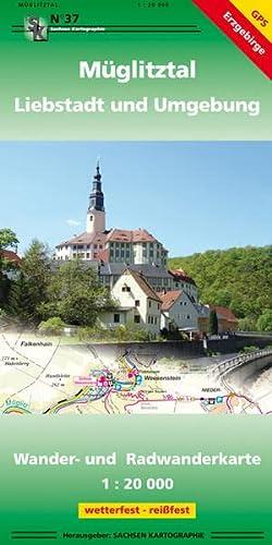 9783868430370: Gemeinde Müglitztal und Umgebung 1:20 000: Wander- und Radwanderkarte