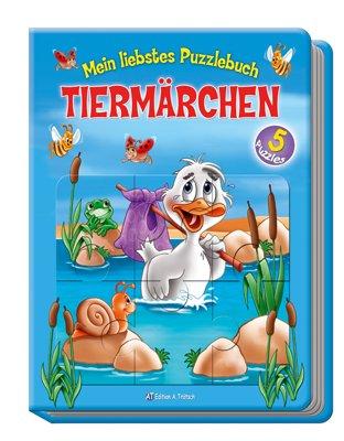 9783868480719: Mein liebstes Puzzlebuch. Tiermärchen: 5 bekannte Tiermärchen mit dazugehörigen 24-teiligen Puzzles in einem Buch!