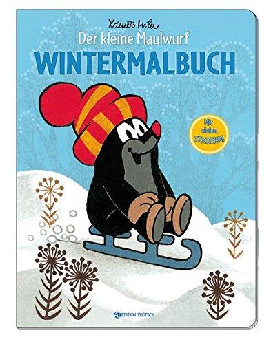 9783868487800: Wintermalbuch - Der kleine Maulwurf: Mit vielen Stickern