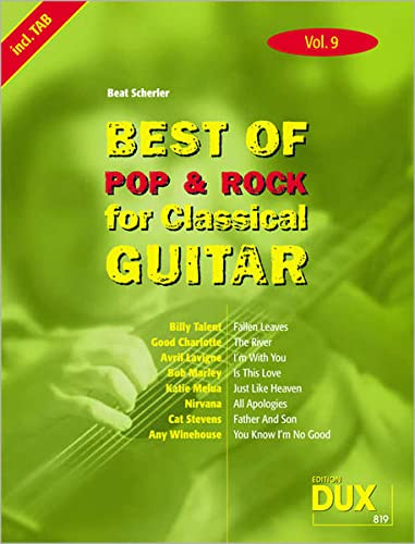 9783868490152: Best of Pop und Rock for Classical Guitar 9: Die Sammlung mit starken Interpreten