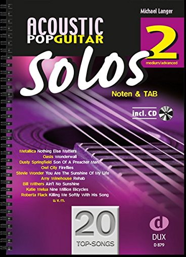 9783868491883: Acoustic Pop Guitar Solos 2: Noten & TAB - medium/advanced