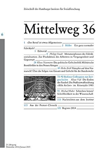 9783868547290: Das Subjekt bei der Arbeit. Mittelweg 36, Zeitschrift des Hamburger Instituts für Sozialforschung, Heft 6/2014