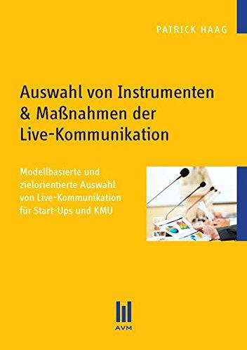 9783869245751: Auswahl von Instrumenten & Maßnahmen der Live-Kommunikation