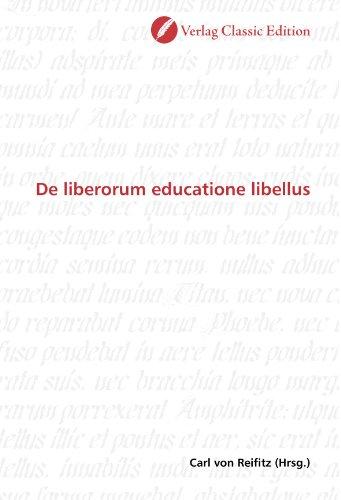 9783869327549: De liberorum educatione libellus (German Edition)
