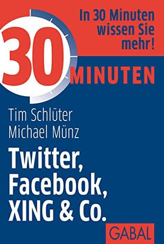 9783869363745: 30 Minuten Twitter, Facebook, XING & Co