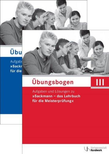 9783869502625: Erster Übungsbogen für die Meisterprüfung III mit Lösungen