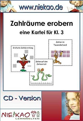 9783869530925: Zahlräume erobern - eine anschauliche Kartei für Kl. 3: CD - Version