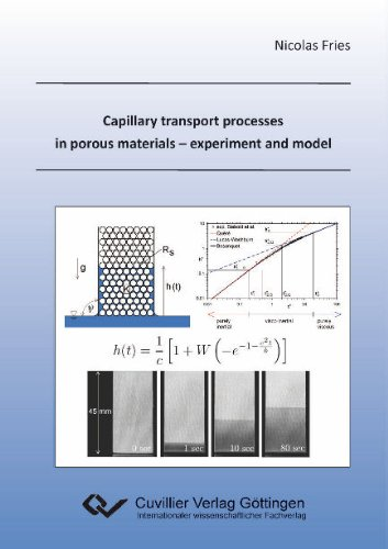 Capillary transport processes in porous materials - experiment and model: Nicolas Fries