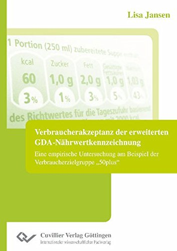 Verbraucherakzeptanz der erweiterten GDA-Nährwertkennzeichnung: Lisa Jansen