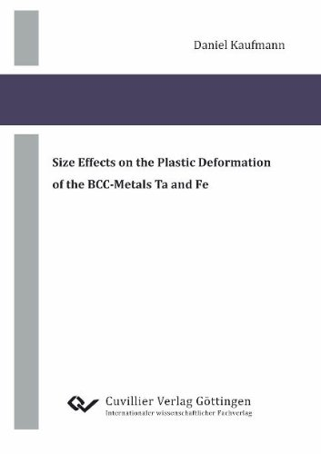 9783869556543: Size Effects on the Plastic Deformation of the BCC-Metals Ta and Fe