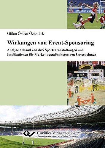 Wirkungen von Event-Sponsoring: Analyse anhand von drei Sportveranstaltungen und Implikationen für ...
