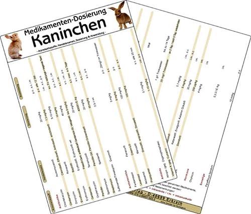 9783869570532: Medikamenten Dosierung Kaninchen: Arzneiwirkstoffe, Handelsnamen, Dosierung & Anwendung