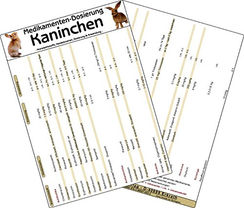 9783869570532: Medikamenten Dosierung Kaninchen