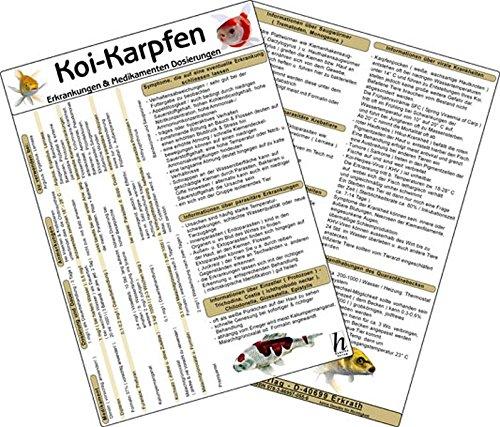 9783869570556: Koi-Karpfen - Erkrankungen & Medikamenten Dosierungen, Tierheilkunde-Karte