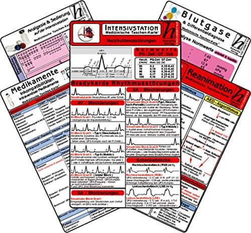 9783869572345: Intensiv-Station Karten-Set - Analgesie & Sedierung, Blutgase & Differentialdiagnose, Herzrhythmusstörungen, Inkompatibilitäten intravenöser Medikamente, Reanimation