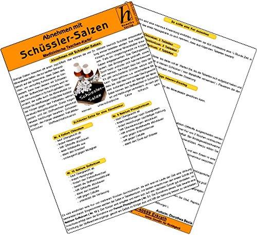 9783869572529: Abnehmen mit Schüssler-Salzen - Medizinische Taschen-Karte
