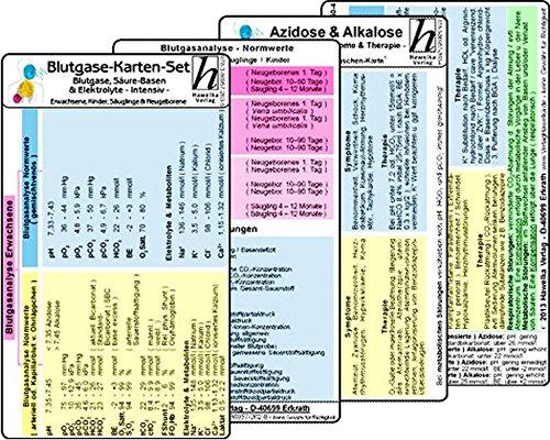 9783869572635: Blutgase-Karten-Set - Medizinische Taschen-Karte: Bestehend aus unseren Karten: Blutgase, Säure-Basen & Elektrolyte -Intensiv- für Erw., Kinder, ... & Alkalose - Ursachen, Symptome & Therapie -