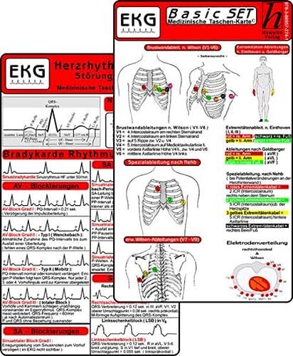 9783869572741: EKG Basic Set (3er Set) - Herzrhythmusstörungen, EKG Auswertung - Medizinische Taschen-Karte