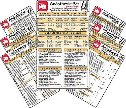 9783869573182: Anästhesie Karten-Set -professional- ( 7er-Set ) - Medizinische Taschen-Karte