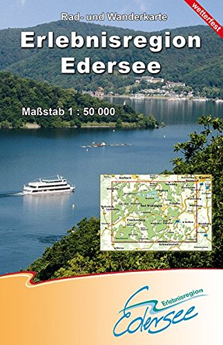 Erlebnisregion Edersee 1 : 50 000: Rad- und Wanderkarte