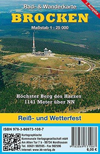 9783869731087: Brocken 1 : 25 000: Rad- & Wanderkarte (wetterfest)