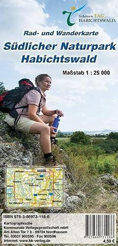 9783869731186: Südlicher Naturpark Habichtswald 1: 25 000. Rad- und Wanderkarte