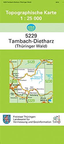 9783869794204: Tambachh-Dietharz (Thüringer Wald) 1 : 25 000