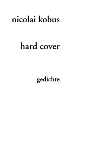 9783870231552: hard cover: gedichte