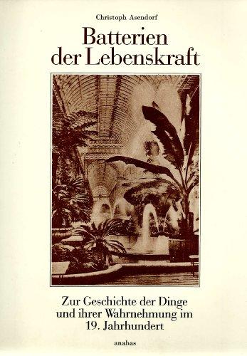 9783870381127: Batterien der Lebenskraft. Zur Geschichte der Dinge und ihrer Wahrnehmung im 19. Jahrhundert. (= Werkbund-Archiv, 13).