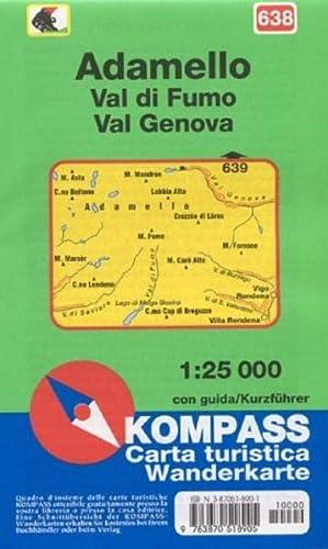 9783870518905: Carta escursionistica n. 638. Adamello 1:25.000