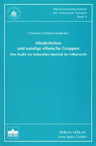 Minderheiten und sonstige ethnische Gruppen: Christian Scherer-Leydecker