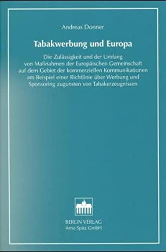 Tabakwerbung und Europa: Andreas Donner