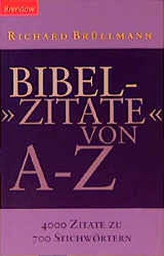9783870678609: Bibelzitate von A - Z.