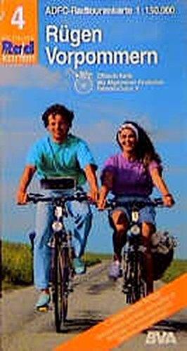 9783870730642: ADFC-Radtourenkarte 04 Rügen / Vorpommern 1 : 150 000: Bett und Bike. Rad und Bahn. Touren-Tipps. Alle Radfahrwege
