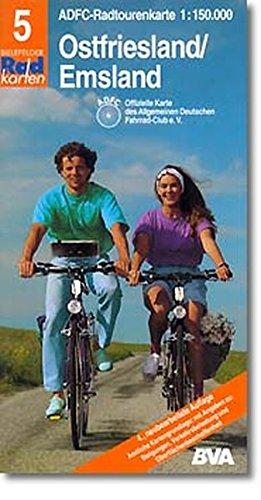 9783870730659: Radtourenkarten 1:150000 (ADFC): ADFC Radtourenkarten, Ostfriesland, Emsland