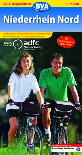 9783870732042: ADFC-Regionalkarte Niederrhein Nord 1 : 75 000: Alle Radtouren für Wochenendtour und Tagesausflug! Mit Straßennamen zur besseren Orientierung!