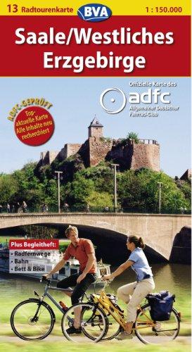 9783870733698: ADFC-Radtourenkarte 13 Saale / Westliches Erzgebirge 1 : 150 000: Bett und Bike. Rad und Bahn. Touren-Tipps. Radfernwege