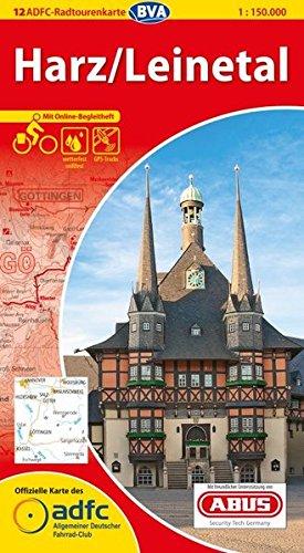 9783870735524: ADFC-Radtourenkarte 12 Harz / Leinetal: Radfernwege / Bahn / Bett / Bike
